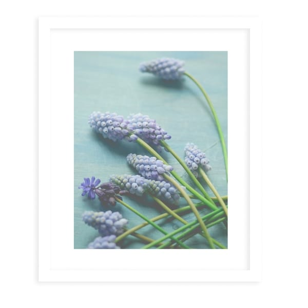 BLUE FLORAL STILL LIFE White Framed Giclee Print By Olivia St. Claire