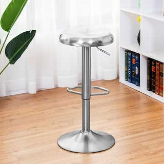 Link to Swivel Bar Stools Adjustable Pub Chairs Brushed Stainless Steel Similar Items in Dining Room & Bar Furniture