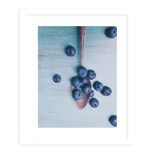 BLUEBERRIES White Framed Giclee Print By Olivia St. Claire