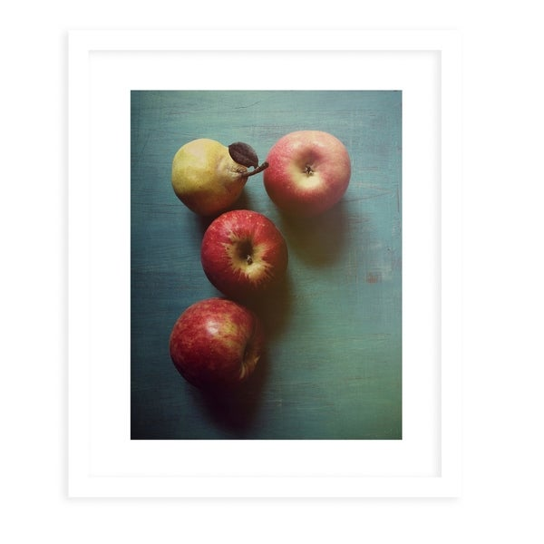APPLES N PEAR White Framed Giclee Print By Olivia St. Claire