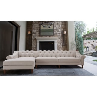 """Alexandra Tufted Left Sectional Sofa by Jennifer Taylor Home - 132""""W x 77""""D x 31""""H"""