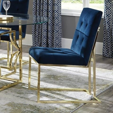 Silver Orchid Dressler Tufted Back Upholstered Dining Chairs (Set of 2)