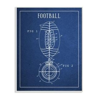 Link to Stupell Industries Football Blueprint Vintage Sports Design Wood Wall Art Similar Items in Art Prints