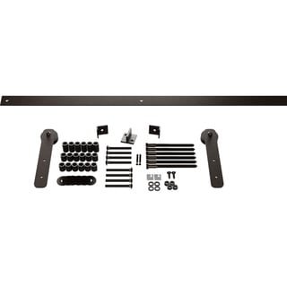 Economy Straight Strap Barn Door Hardware Set