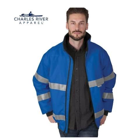 Men's Signal Rain Jacket Size 4XL Royal