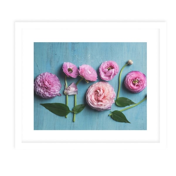 DAWES NATURE STILL LIFE FLOWERS White Framed Giclee Print By Olivia St. Claire