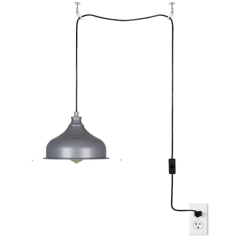 "Catalina Lighting Metal Shade Swag Pendant, LED Bulb Included, 7"", 22731-001"