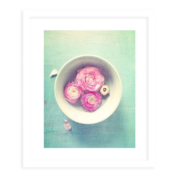 FLORBOWL White Framed Giclee Print By Olivia St. Claire