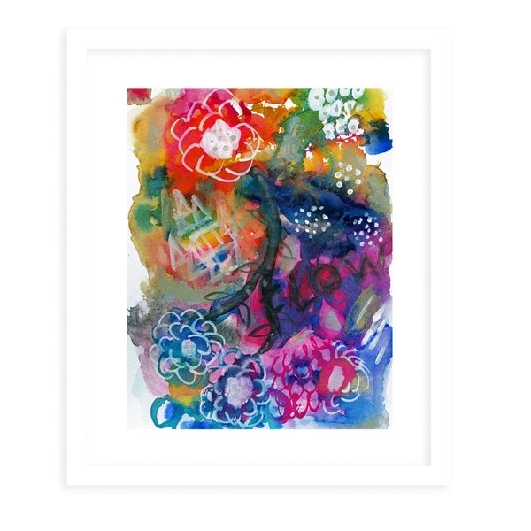 FLOW White Framed Giclee Print By Olivia St. Claire