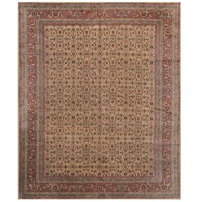 Handmade One-of-a-Kind Antique 1940's Tabriz Wool Rug (Iran) - 10' x 12'5