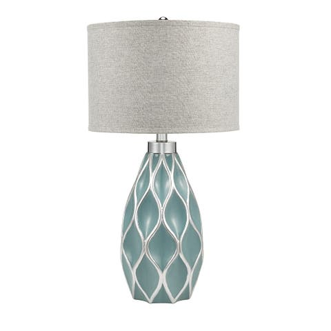 """Catalina Lighting Quilted Ceramic Table Lamp, LED Bulb Included, 31.5"""", 20997-001"""
