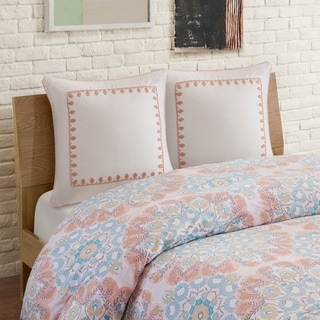 Echo Design Simona Grey Embroidered Cotton Euro Sham