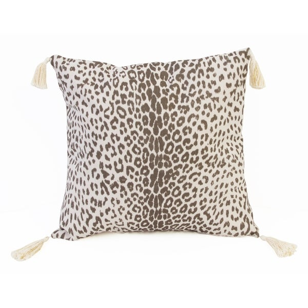 20x20 Violetta Cheetah Tassel Pillow