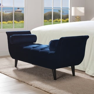 """Alma Tufted Entryway Bench with 2 Bolster Pillows by Jennifer Taylor Home - 64.5""""W x 20""""D x 25.5""""H"""