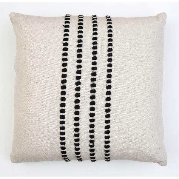 20x20 Wanda Yarn Stitch Woven Cotton Pillow