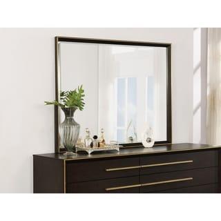 Strick & Bolton Strelli Brown/ Gold Rectangular Mirror