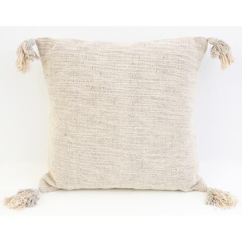 20x20 Bradford Two Tone Tassel Pillow