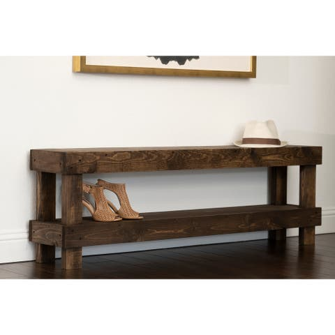 The Gray Barn Graceland Rustic Farmhouse Wooden Bench Seat