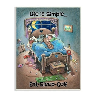 Link to Stupell Industries Life Is Simple Funny Golf Cartoon Sports Design Wood Wall Art Similar Items in Wood Wall Art
