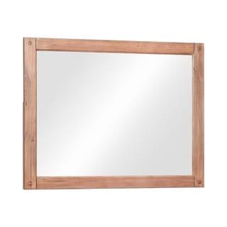 Strick & Bolton Tolli White-washed Rectangular Mirror