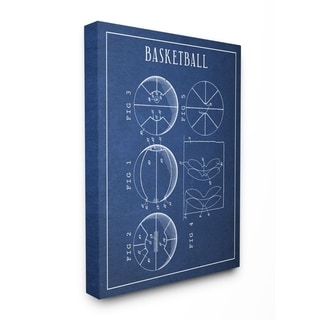 Link to Stupell Industries Basketball Blueprint Vintage Sports Design Canvas Wall Art Similar Items in Art Prints