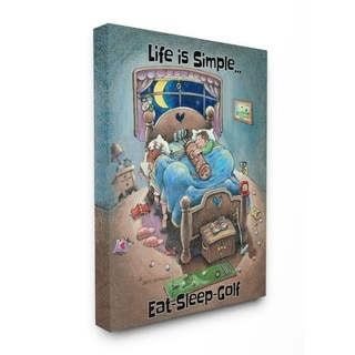 Link to Stupell Industries Life Is Simple Funny Golf Cartoon Sports Design Canvas Wall Art Similar Items in Canvas Art