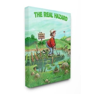 Link to Stupell Industries The Real Hazard Funny Golf Cartoon Sports Design Canvas Wall Art Similar Items in Canvas Art
