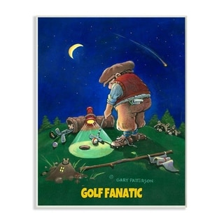 Link to Stupell Industries Gold Fanatic Funny Golf Cartoon Sports Design Wood Wall Art Similar Items in Wood Wall Art