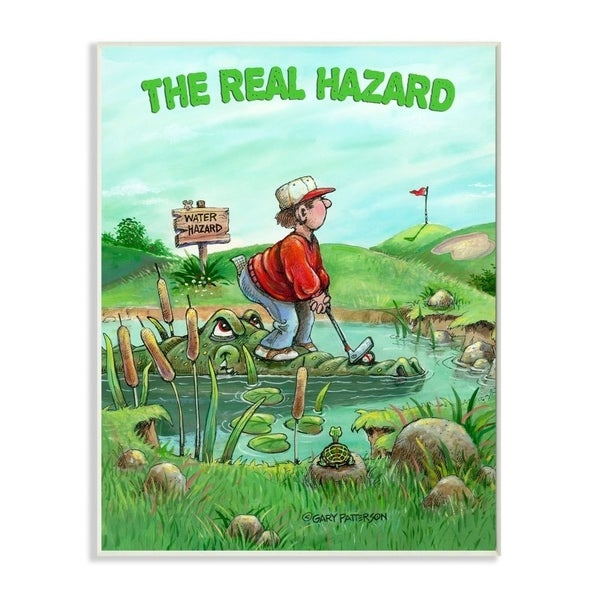 Stupell Industries The Real Hazard Funny Golf Cartoon Sports Design Wood Wall Art. Opens flyout.