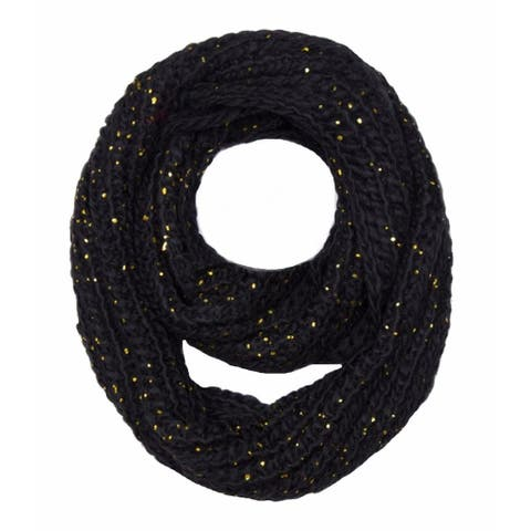 Peach Couture Winter Warm Thick Knit Cozy Infinity Loop Cowl Scarves