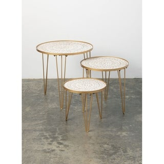 Round Stacking Tables - Set of 3