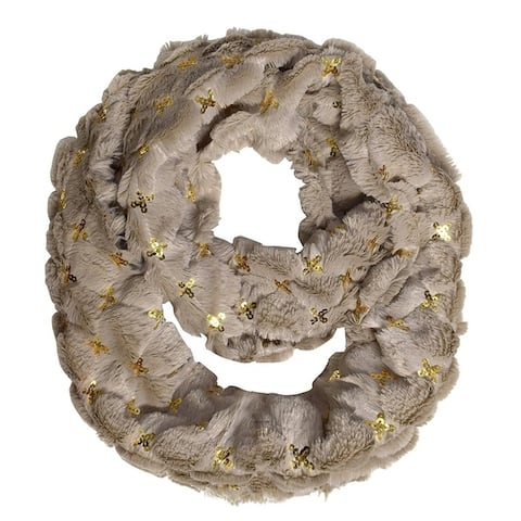 Peach Couture Solid Color Plush Cowl Collar Infinity Loop Scarf
