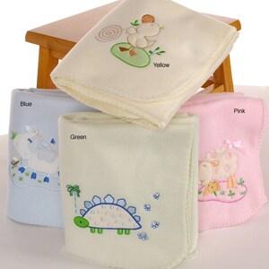 Embroidered Fleece Baby Blankets (Set of 2)