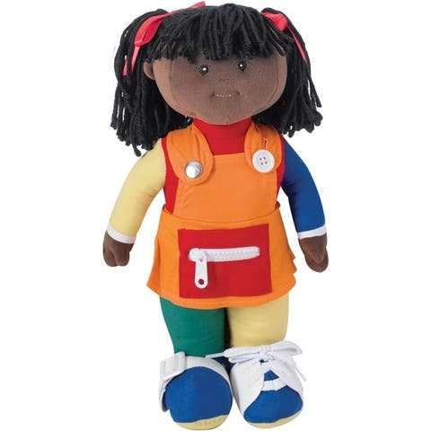 Children's Factory Learn to Dress - African American Girl - Multi