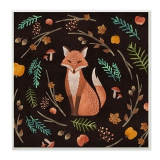 "Details about  /Streudeko Fox and Leaves /""Natural Wooden 12 Piece 4,5-5,5 cm show original title"