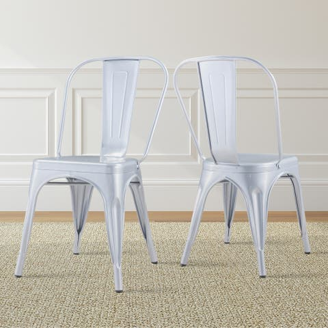 Halston Silver Metal Dining Chairs by Greyson Living - Set of 6