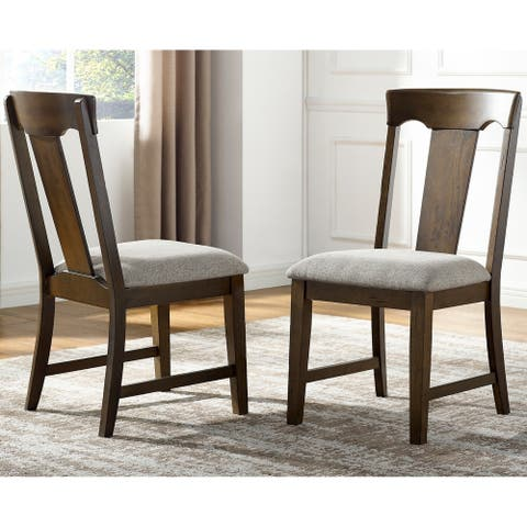 Langdon Walnut Side Chair by Greyson Living - Set of 2