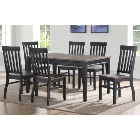 Ralston Two-Tone Ebony and Driftwood 6-Piece Dining Set by Greyson Living