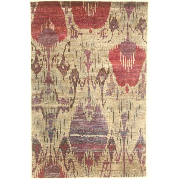 """Modern hand-knotted rug - 4'11"""" X 7'7"""". Opens flyout."""