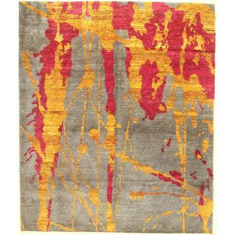 """Modern hand-knotted rug - 8'3"""" X 9'10"""""""
