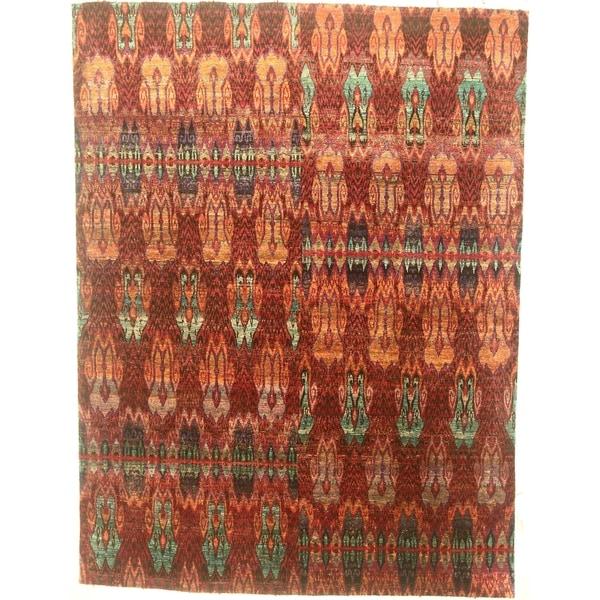 """Modern hand-knotted rug - 8'0"""" X 10'8"""". Opens flyout."""