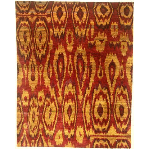 "Modern hand-knotted rug - 8'1"" X 10'2"""