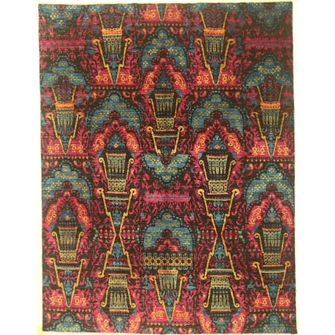 """Modern hand-knotted rug - 7'10"""" X 10'1"""""""