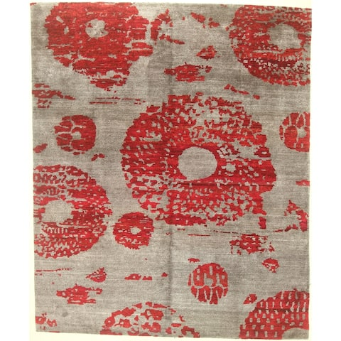 """Modern hand-knotted rug - 8'1"""" X 9'10"""""""