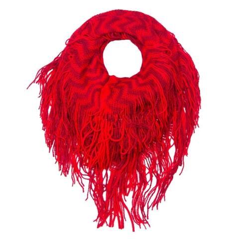 Peach Couture Winter Chevron Zig Zag Design Infinity Loop Scarf