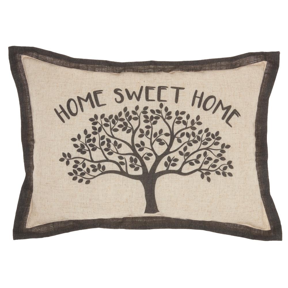 """Kathy Ireland Home Kathy Ireland Pillow Natural Throw Pillow, (14"""" x 20"""")"""