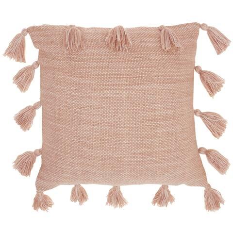 "Mina Victory Life Styles Beige Throw Pillow, (13"" x 33"")"