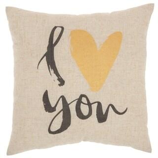 """Kathy Ireland Home Kathy Ireland Pillow Natural Throw Pillow, (18"""" x 18"""")"""