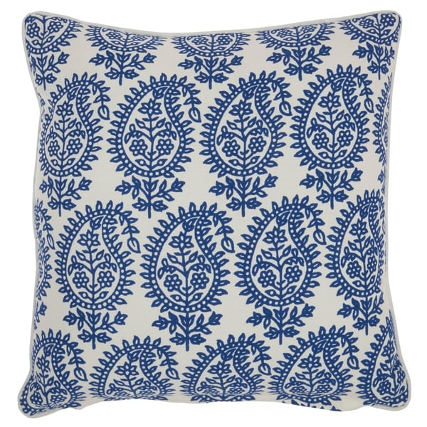 "Mina Victory Life Styles Blue Throw Pillow, (18"" x 18"")"