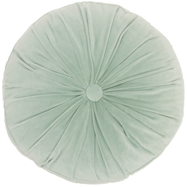 "Mina Victory Life Styles Celadon Throw Pillow, (16"" x 16"" RND)"